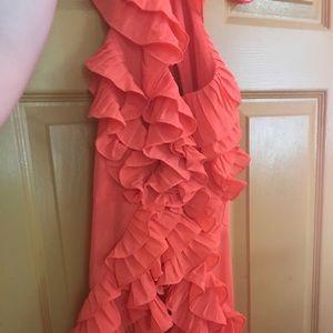 A M flirty, fun orange halter top from Sugarlips